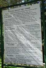 Marys House Sign describing Shrine